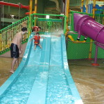 Kiddie area with four slides