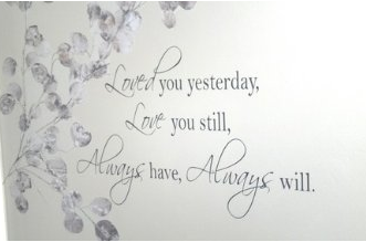 """Amazon: Vinyl Wall Quotes """"Loved You Yesterday, Love You ..."""
