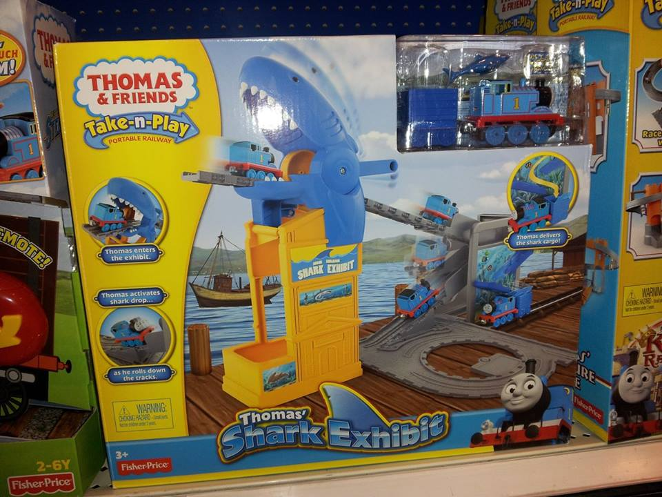 Target Toy Trains : Hot thomas friends shark exhibit take and play toy