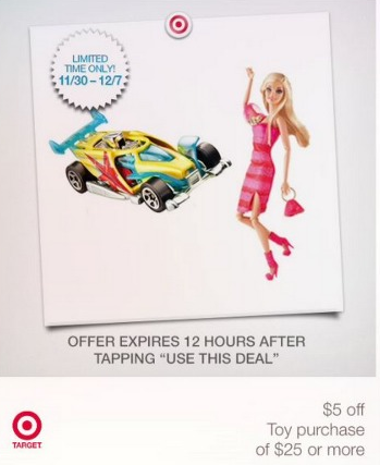$5 off $25 Target Toy coupon