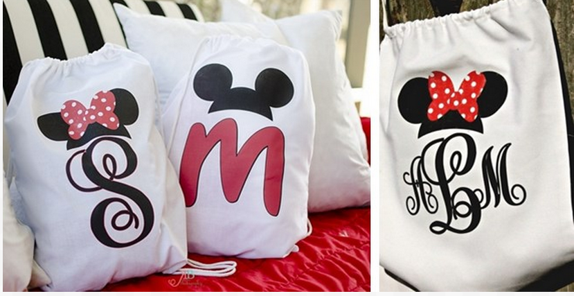 Monogrammed Disney Character Drawstring Backpacks Only $11.90 Shipped!