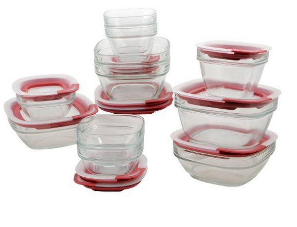 rubbermaid glass container set