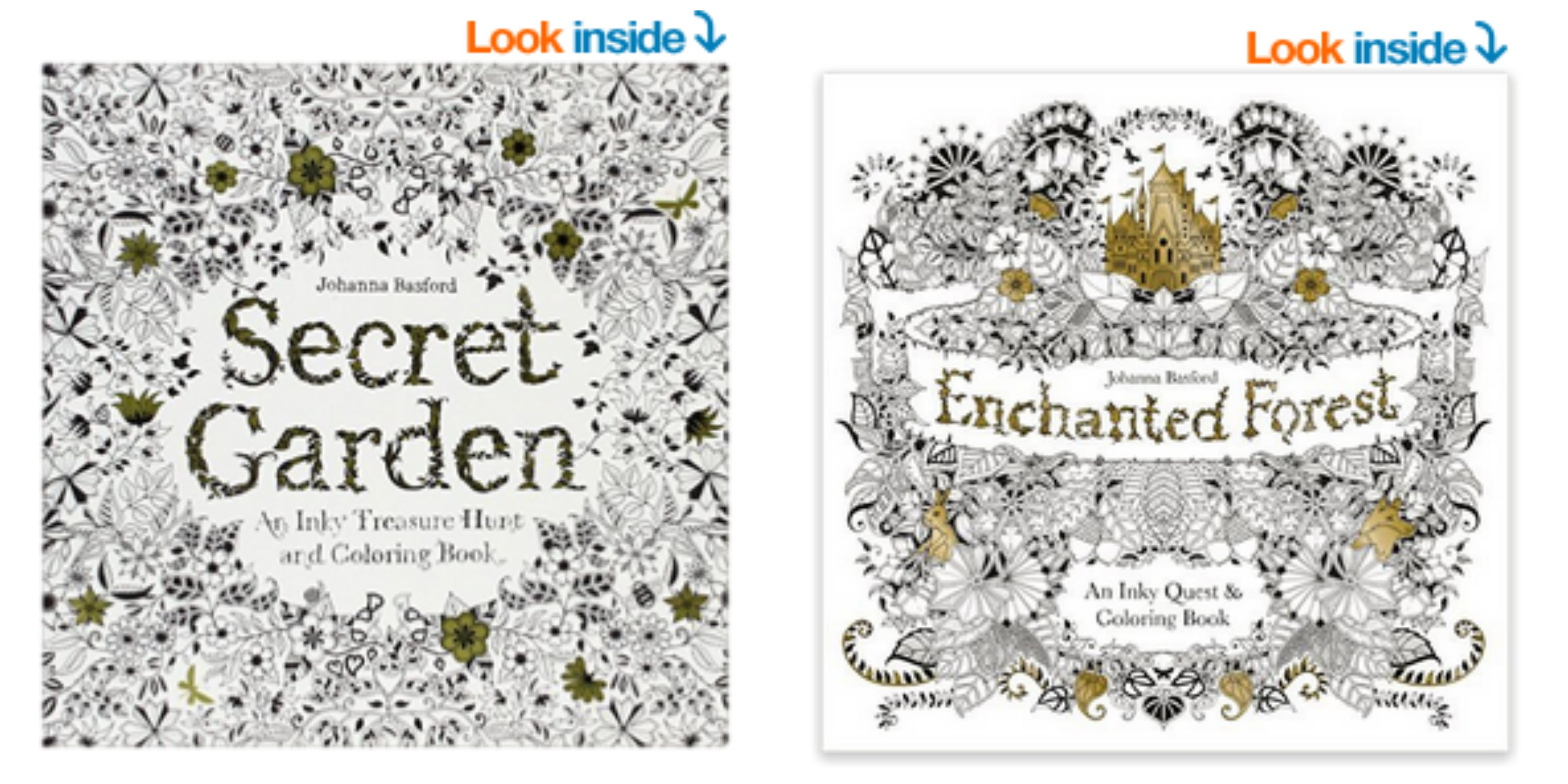Picmonkey Collage Best Coloring Books Stock Amazon Enchanted Forest An Inky Quest