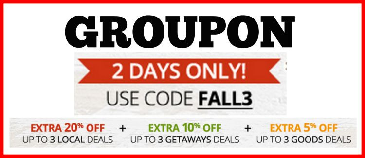 Groupon Coupon Code ~ Extra 20% Off Local Deals (2 Days Only)