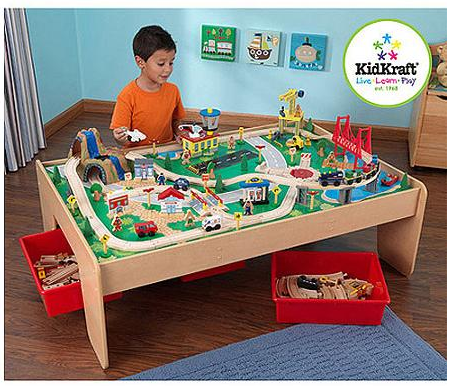 KidKraft Train Table with 3 Bins + 120-Piece Train Set Only $79 (Reg. $174.99) + FREE Shipping!  sc 1 st  Couponing with Rachel & KidKraft Train Table with 3 Bins + 120-Piece Train Set Only $79 (Reg ...