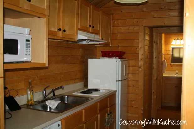 carowinds camp wilderness cabins review kitchen