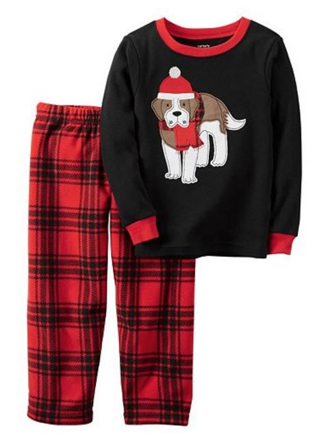 30265e158 Carter's Dog Top & Plaid Fleece Pants Pajama Set – 12 Mths only $4.40 (Reg.  $22) Use codes LUCKY30 and FS4MARCH (cardholders) = $3.08 shipped after  codes