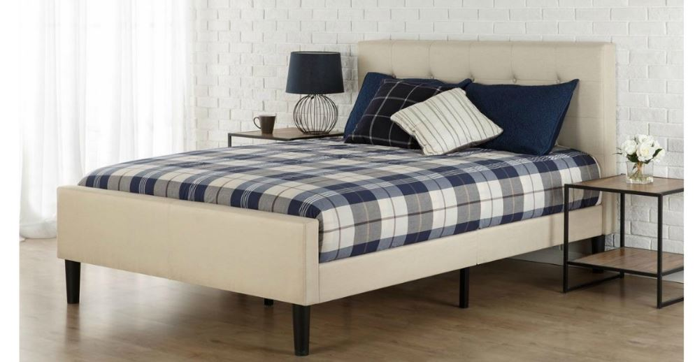 Upholstered Platform Bed Only $159-$169 + FREE Shipping (reg. up to $ ...
