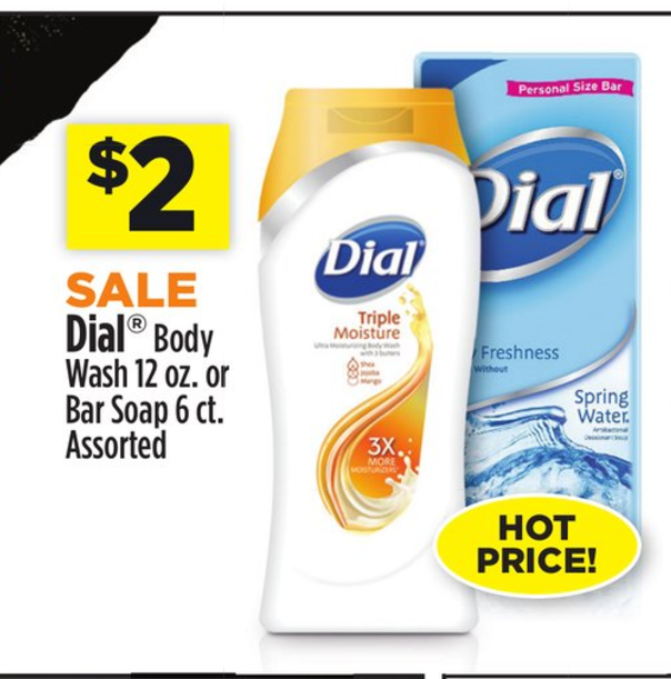 photo relating to Dial Soap Printable Coupon called 50¢ Dial Physique Clean Bar Cleaning soap at Greenback Total!