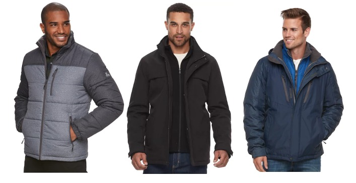Kohl's: BEST Deals on Men's Coats ~ 60% Off + Extra 15%