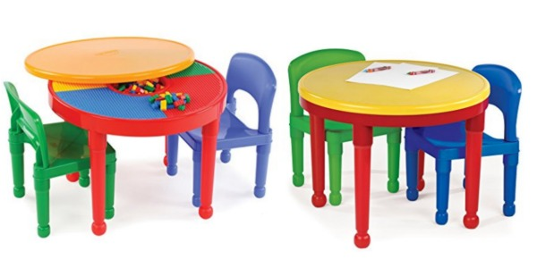 Amazon: 2-in-1 Plastic LEGO-Compatible Activity Table and 2 Chairs Set