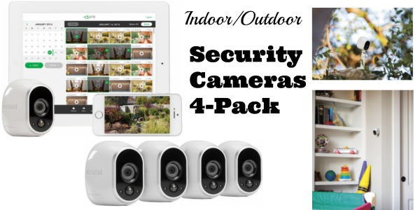 Bestbuy Netgear Arlo Smart Home Indoor Outdoor Wireless High Definition Security Cameras 4 Pack Only 299 99 Reg 500