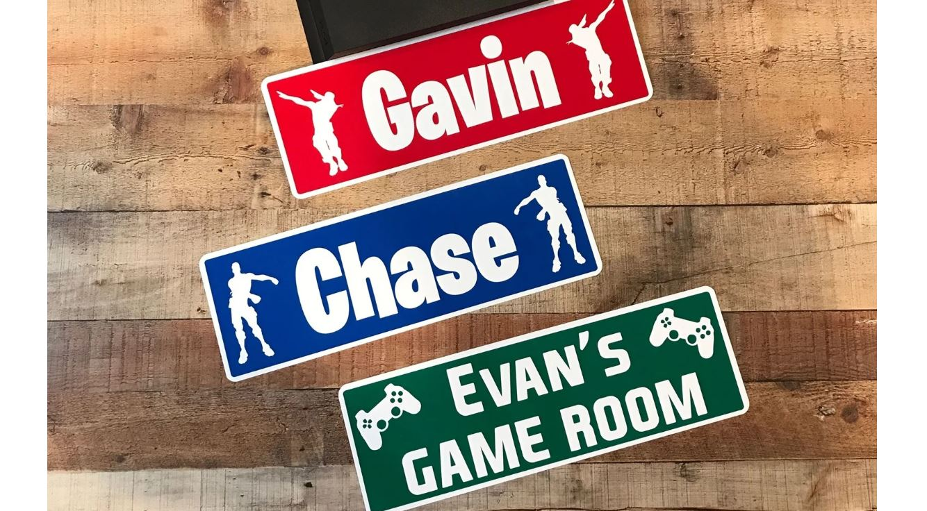 Metal Name Door Signs For Gamers 14 99 Free Shipping